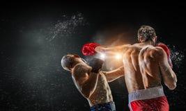 Trainning бойцов коробки внешний Мультимедиа Стоковые Изображения