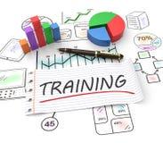 Trainning begrepp stock illustrationer