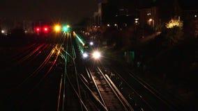 Trains à Londres, Angleterre banque de vidéos