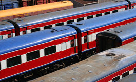 Trains. Train yard royalty free stock image