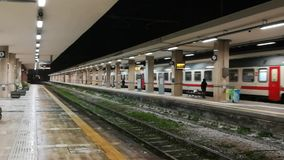 Trains arriving at the Benevento station