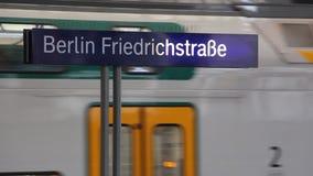 Trains in Berlin Fridrichstrase stock footage