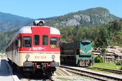 Trains Bohinjska Bistrica railway station Slovenia Stock Photography