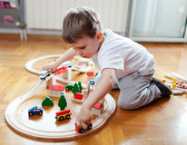 Trains are boys best friends Royalty Free Stock Photo