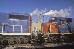 Trains at Chevrolet automotive plant Royalty Free Stock Photos