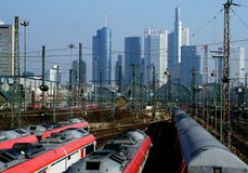 Trains d'Allemand Photo stock