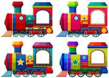 Trains dans différentes couleurs Photos libres de droits
