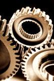 Trains dans une engine Photo libre de droits