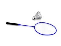 Trains de badminton. Photographie stock libre de droits