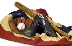 Trains de base-ball de cru Photo libre de droits