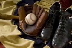Trains de base-ball de cru Photo stock
