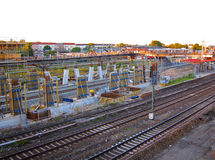 Trains de chemin de fer, Berlin Germany Photo libre de droits