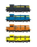trains de couleur Photographie stock