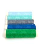 Trains de couture bleus et verts Image stock