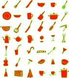 Trains de cuisine illustration stock