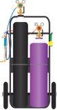 Trains de découpage à l'acétylène d'Oxy illustration de vecteur