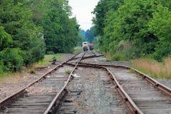 Trains de distance Photo libre de droits