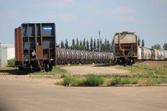 Trains de double Image stock