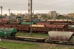 Trains de fret images stock