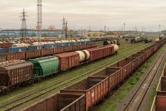 Trains de fret image stock