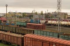 Trains de fret photographie stock