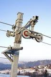 Trains de levage de ski Images stock
