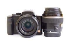 Trains de photo d'isolement sur le blanc Photographie stock