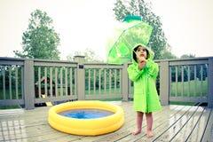 Trains de pluie Photo libre de droits