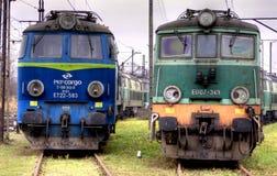 Trains de polonais image libre de droits