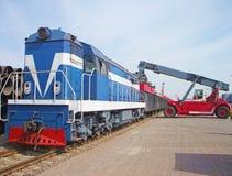 Trains de récipient photographie stock