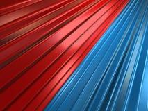 Trains de rouge bleu Photographie stock