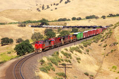Trains are diesel oil transportation. Trains are transporting gasoline and large quantities Royalty Free Stock Images