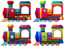 Trains in different colors Royalty Free Stock Photos