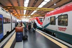 Trains en Italie Images libres de droits