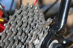 Trains et pignons de bicyclette Photos libres de droits