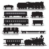 Trains ferroviaires illustration libre de droits