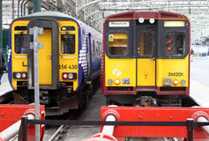 Trains in Glasgow Central station, Scotland. Stock Photography