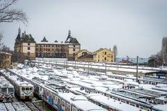 Trains in Haydarpasa train station in Istanbul, Turkey Stock Photo