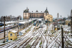 Trains in Haydarpasa train station in Istanbul, Turkey Stock Images
