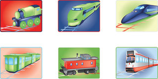Trains illustration Royalty Free Stock Photo