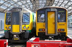 Trains in Lime Street Railway Station. Stock Photo