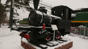 Trains, locomotives and diesel locomotives of the 19th century. The Museum of the Railway of Russia. Trains, locomotives and diesel locomotives of the 19th stock footage