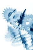 Trains mécaniques d'horloge Images libres de droits