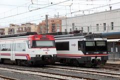 Trains at main station of Tarragona, Spain Stock Photo