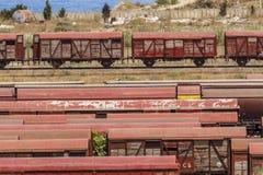 Trains. A main train station in Jijel, Algeria Royalty Free Stock Photos