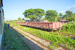 Trains in Myanmar Royalty Free Stock Photography