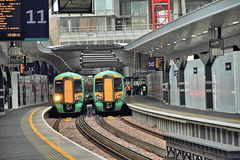 Trains at platform, London Bridge station. Stock Images