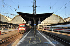 Train platforms from train station Stock Photos