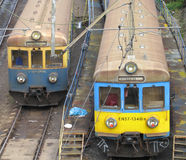 Trains Poland. Local trains in siding Poznan Poland Royalty Free Stock Photos