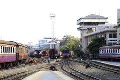 Trains running royalty free stock photo